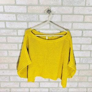 Anthropologie Sweaters - Anthropologie Moth Aurantia Crop Knit Sweater